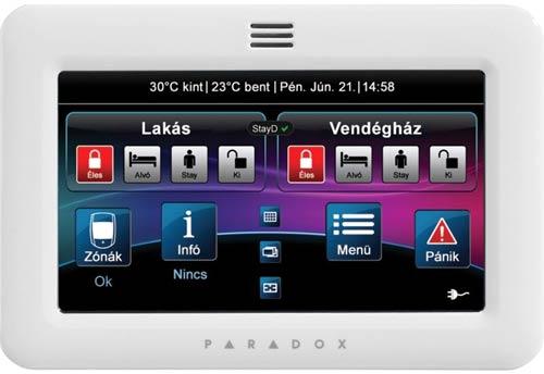 Paradox TM50 érintőképernyős kezelő egység (fehér)